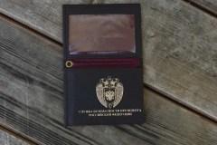 обложка для удостоверения  с откидным карманом